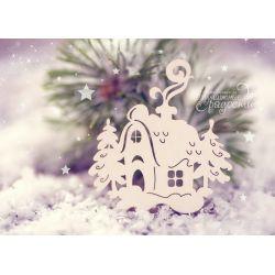 Чипборд. Новогодний домик